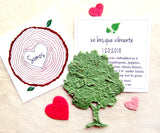 Somos un bosque vibrante plantable paper tree cards with flower seeds