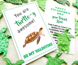 24 Flower Seed Turtle Valentines for Kids School Valentine's Day Party