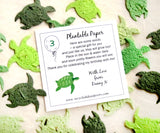 recycledideas plantable turtles confetti seed paper turtles