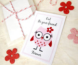 Valentine's Day Owl Valentines with plantable paper owls - Owl Be Your Friend - set of 24