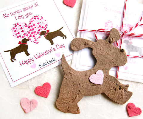 chocolate lab Valentines Day cards