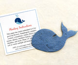 Recycled Ideas Favors plantable paper whale with card