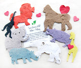 Recycled Ideas Favors plantable paper assorted zoo animals