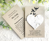 Personalized Memorial Cards with Seed Paper Hearts - Sustainable Funeral