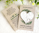 40+ Customizable Flower Seed Paper Memorial Cards - Eco Friendly Sustainable