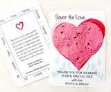 Recycled Ideas Favors plantable paper heart with card