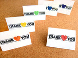 Recycled Ideas Favors thank you cards with plantable paper hearts