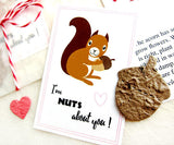 Recycled Ideas Favors plantable paper acorn with squirrel themed card, gift bag and decorative twine