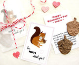 Recycled Ideas Favors plantable paper acorns with squirrel themed card, gift bag and decorative twine