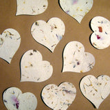Recycled Ideas Favors plantable paper hearts