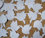 Recycled Ideas Favors plantable paper white doves