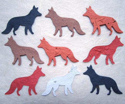 Recycled Ideas Favors plantable paper foxes