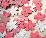 Recycled Ideas Favors plantable seed paper red, white and pink cherry blossoms