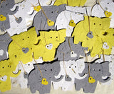 Recycled Ideas Favors plantable seed paper elephants with hearts and cards