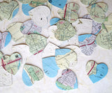 Recycled Ideas Favors plantable paper map hearts