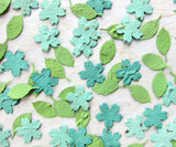 Recycled Ideas Favors plantable seed paper aqua color cherry blossoms with green leaves