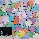 Recycled Ideas Favors plantable seed paper rainbow color cherry blossoms with sprouts from paper