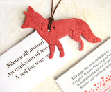 Recycled Ideas Favors plantable paper fox with card