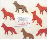 Recycled Ideas Favors plantable paper foxes with card