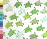 Recycled Ideas Favors plantable seed paper confetti assorted greens turtles
