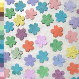 Recycled Ideas Favors plantable seed paper rainbow color cherry blossoms