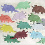Recycled Ideas Favors plantable paper triceratops