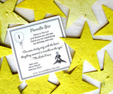 Recycled Ideas Favors plantable paper yellow stars with card