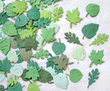 Recycled Ideas Favors plantable paper leaves in assorted greens