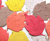Recycled Ideas Favors plantable paper mulberry leaves in fall colors