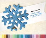 Recycled Ideas Favors plantable paper snowflake with banner card