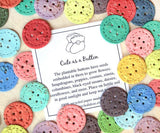Recycled Ideas Favors plantable paper buttons with Cute as a Button card