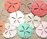 Recycled Ideas Favors assorted colors plantable paper sand dollars