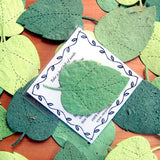 Recycled Ideas Favors plantable paper birch leaves with card