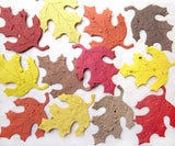 Plantable paper oak leaves in fall colors