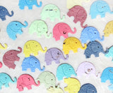 Recycled Ideas Favors plantable seed paper confetti assorted colors elephants
