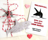 20 Seed Paper Sharks - Valentines Plantable Ocean Life Party Favors - Wedding and Birthday Option - Personalized Cards Included