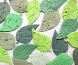 50+ Plantable Seed Paper Birch Leaves - Fall Colors or Greens - Custom Colors too