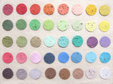 Recycled Ideas Favors plantable paper color chart