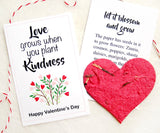 Recycled Ideas Favors plantable paper heart and cards