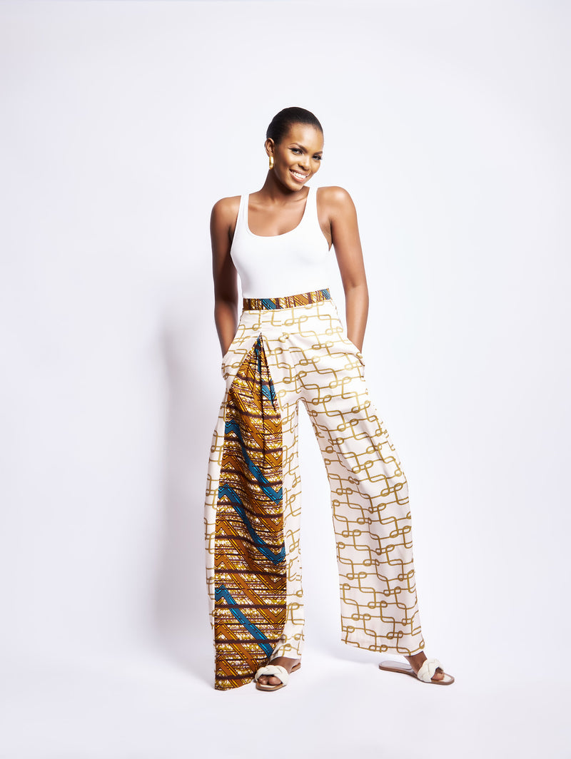 DAKARI WIDE LEG PANT - YELLOW