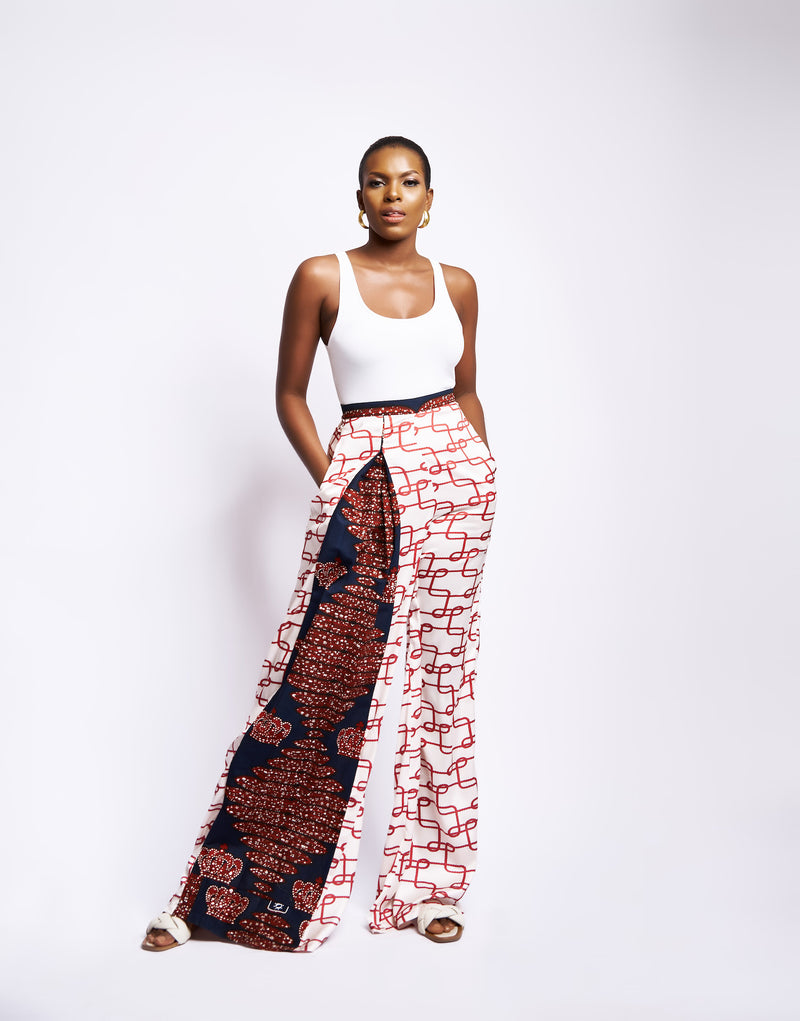 DAKARI WIDE LEG PANT - RED