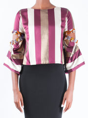 BOXY TOP WITH SLITS AT SLEEVE