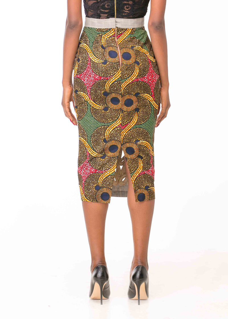 FULL EMBROIDERED PENCIL SKIRT (PRE-ORDER)