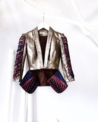 LIMITED EDITION - Metallic Peplum Blazer
