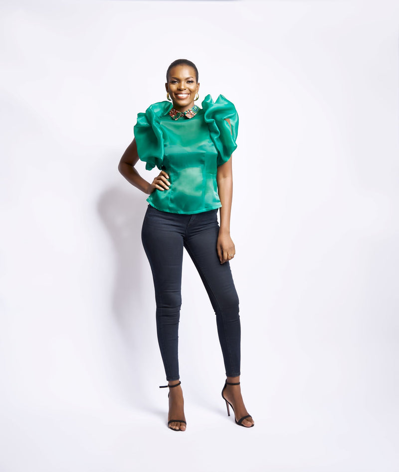 SAIDA BLOUSE - GREEN