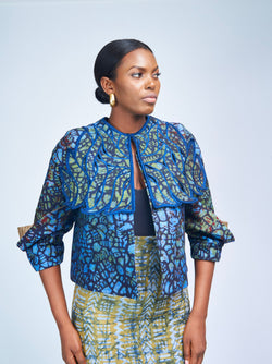 BOXY CAPE JACKET - BATIK
