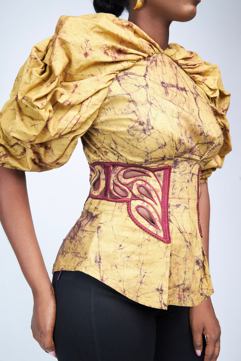 THE DRAMATIC SLEEVED BLOUSE - BATIK