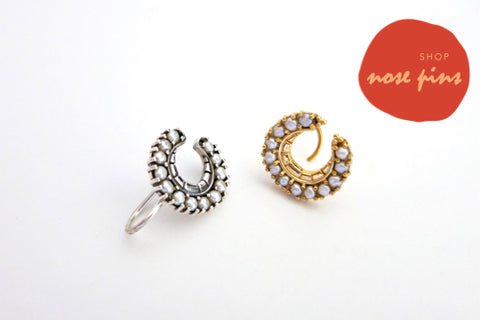 Handcrafted sterling silver nose pins by Lai