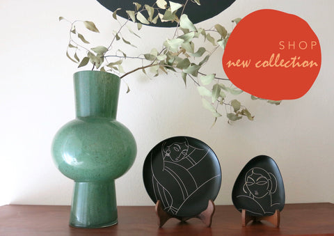 Bidri metal and silver small plates. Design led, luxe, handmade home decor art objects. Handmade in India by Lai and Craft Stories 1