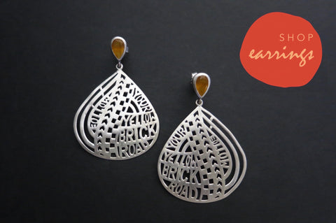 Handcrafted sterling silver earrings by Lai